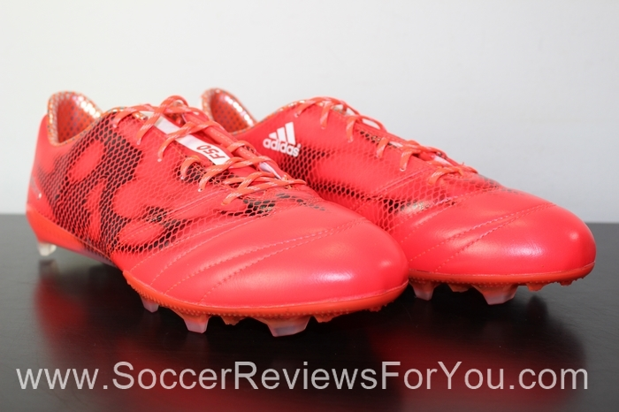 adidas F50 adiZero 2015 Leather Solar Red (2)