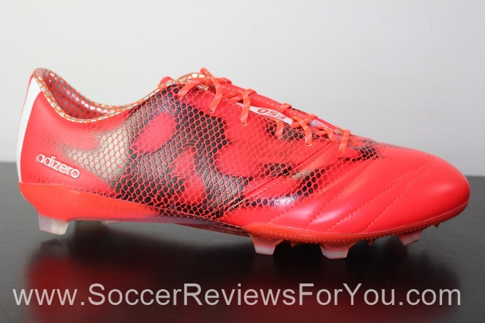 adidas F50 adiZero 2015 Leather Solar Red (3)