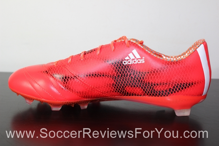 adidas F50 adiZero 2015 Leather Solar Red (4)